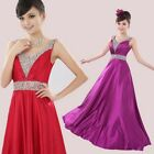 New Beading Wedding Bridesmaid Dress Long Prom Formal Party/Evening Gowns
