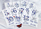 PERSONALISED TENT STYLE CHARACTER TABLE NUMBERS - ANY NUMBERS