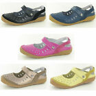 **SALE** Ladies Down To Earth Leather Rip Tape Shoes UK Sizes 4-8 F3100