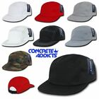 5 Panel Hat Racer Cap Strap Back Flat Brim Skate Camp Army Plain Five Panel NEW