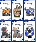Scottish Iconic Fridge Magnets Saltire Tartan Sheep Highland Cow Scottie Dog
