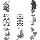 Temporary Waterproof Fake Tattoo Transfer Bold Body Art Fancy Dress-Style Choice