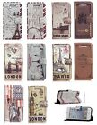 Classic Stylish Vintage Retro London PU Leather Case Stand Wallet Purse Pouch