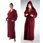 THICK AND WARM!  HOODED FULL LENGTH BATHROBE TURKISH COTTON MENS WOMENS