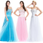 2015 PLUS DESIGNER Beaded Corset Evening Formal Ball gown Party Prom Dress Long