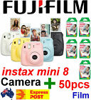Fujifilm Instax Mini 8 Camera with 50 Pack Films Brings Instant Fun & Excitement