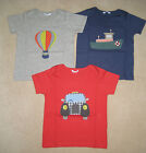 Mini Boden Baby T Shirt Top 0-3 years Applique hot air balloon taxi boat