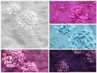 "Taffeta Embroidered Floral Anemone Sequin Fabrics / 58"" Wide / Sold by the yard"