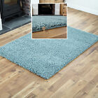 SMALL TO EXTRA LARGE MODERN RUG - DUCK EGG BLUE THICK 5CM HIGH PILE SHAGGY RUGS