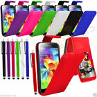 7 Colour Leather Flip Mobile Phone Case For Samsung Galaxy S5  + Big Pen