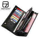 Men's Genuine Leather Handbag Wallet Zipper Cash Phone Holder Two Colors Purse