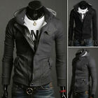 4 Size XS~L PJ Fashion JS Coat Slim Fit Mens Soft Hooded Coat Hoodies Korean