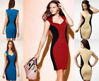 Women's Sexy V-Neck Bodycon Stretch Cocktail Party Evening Slimming Pencil Dress