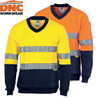 NEW! DNC HI VIS TWO TONE COTTON FLEECE JUMPER WITH 3M TAPE