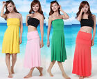 9 Color New Multi-Way Womens Sexy Beach Skirt Casual Summer Party Dress Sundress