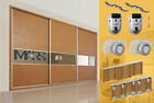 Mars Premium Sliding Wardrobe Track Kit Set- ball bearing wheels up to 70kg door