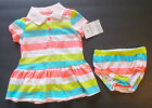 Carter's Playwear Infant Girls 2 Piece Multicolor Dress Outfit 6M and 18M NWT