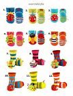 Baby Girls Boys Terry Socks with ABS & 3D Bug Rattle age 0-12 & 0-24 months CUTE