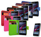 6 Colour New Wallet Flip Protective Leather Phone Case Cover Fits Sony Xperia E1