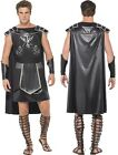 Mens Fever Male Dark Gladiator Costume Tunic Cape Cuffs Spartacus Russell Crowe