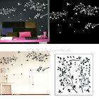 2 Colors Wall Decor Art Vinyl Removable Decal Sticker Tree Leaves Branches Birds