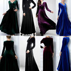 New Women's Velvet Prom Gown Dress Long Evening Party Skirt Clubwear Multicolor