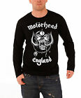 Motorhead T Shirt Mens Black England Warpig band logo new Official long sleeve
