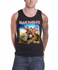 Iron Maiden Trooper Official Mens New Black Vest Top