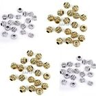 Big Hole Antique Golden/Silver tone Spacer charms Beads Jewelry Findings 8x6mm