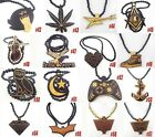 Good Quality hip hop BRICK ghost Pendants Wood Rosary Beads Chains Necklaces XL3