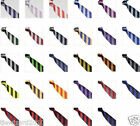 New Striped School Ties Block Stripe Club Tie Fancy Dress Various Colours