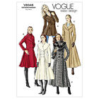 Vogue V8346 Sewing Pattern Misses' Coat - Long Fitted Double Breasted Over Coat