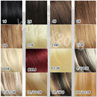 2014 Hot 22 inch clip in real human hair extensions black brown red blonde 120g