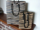Gift Bag Natural Tiger Stripe Print Brown Paper Present 2 sizes (218)