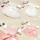 Baby Kids Girls Princess Formal Party Tutu Lace Bow Flower Gown Dress Clothes