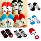Lovers Unisex Cotton Cartoon Creative Socks Men Womens Face Expression Boat Sock