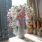 1PCS Stem Artificial Wisteria Silk Flower Home Party Decoration NO VASE F107