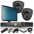 2 x IR Night Vision Camera Full HD 4 CH DVR CCTV PackageRemote View with Monitor