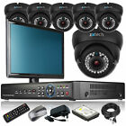 6 x Varifocal Camera HD-MI 8 CH DVR CCTV Security Kit Complete Pack with Monitor