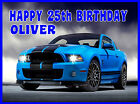 EDIBLE SPORTS CAR AUDI BMW SHELBY MENS 18th 21st 40th BIRTHDAY CAKE ICING TOPPER