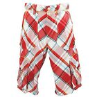 NEW AUTHENTIC MEN'S COOGI RED MULTI PLAID COLOR SHORTS C503204SH / C503204SHXX