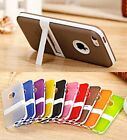 Soft TPU Gel Silicone Hybrid Impact Kickstand Case Cover For Apple iPhone 5S 5 G