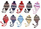 NEW Girl's Soft Cute Comfy Knit Ski Hat Earflap Braids FAST Shipping!