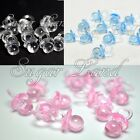 48 Small Pacifiers Charms Baby Shower Favors Clear Pink Girl Boy Decoration