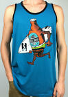 BILLABONG. Men's RUNAWAY BEER 100% Cott Singlet Tank Top. BLUE & WHITE. XL & XXL