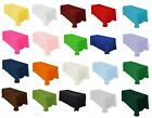 "Tablecloths 60""x126"" Rectangle Polyester Seamless Many Colors Catering MADE USA"