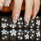 New 3D White Lace Nail Art Tips Sticker Decal Full Wraps Acrylic Decoration ①