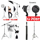 Photography Studio Video Lighting 5 Head Softbox Boom Arm Light Stand kit