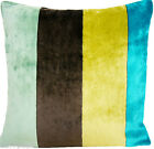 Yellow Black Fabric Velvet Cushion Pillow Cover Designers Guild Egmont Turquoise