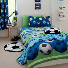 Catherine Lansfield Blue Football Duvet Bed Cover Set & Accessories World Cup